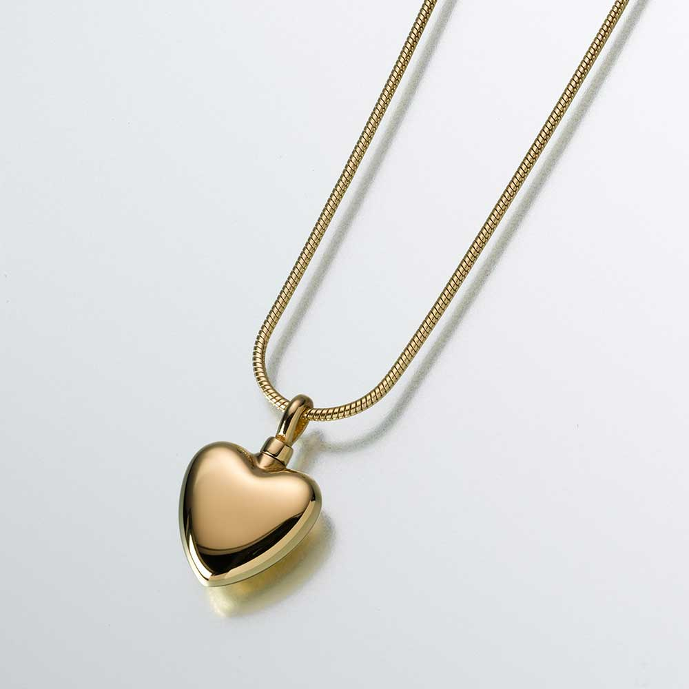 Heart-23K Gold Plated Pendant
