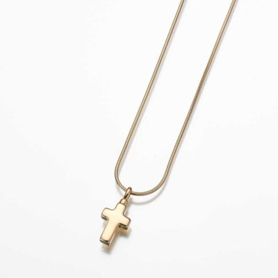 Small Cross-23K Gold Plated Pendant