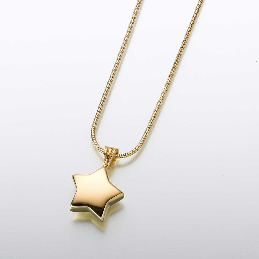 Small Star-23K Gold Plated Pendant