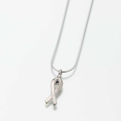 Remembrance Ribbon-Sterling Silver Pendant